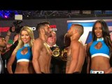 Vasyl Lomachenko vs Jorge Linares FACE OFF at WEIGH IN