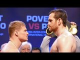 David Price vs Alexander Povetkin. WEIGH IN & FACE OFF | Joshua vs Parker Undercard