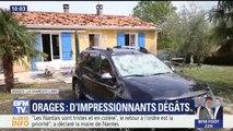 D'impressionnants dégâts après les violents orages en Nouvelle Aquitaine