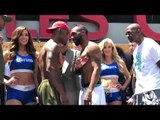 Jermell Charlo vs Austin Trout - HEATED FACE OFF!!! weigh in