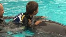 - Hayatlarında ilk kez yunuslarla yüzen otizmli çocuklar, keyifli anlar yaşadı