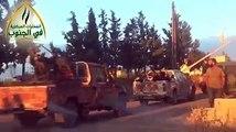 #شام| مشاهد من تعزيزات الثوار باتجاه جبهات مدينة طفس بريف درعا الغربي