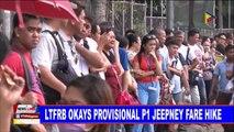 LTFRB okays provisional P1 jeepney fare hike