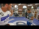 Conor Benn SMASHES PADS with Tony Sims ahead of Peynaud return | Boxing