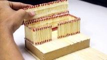 How to Make a Match House Fire at home -  match stick house fire ( 1080 X 1920 )