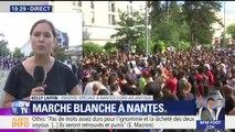 Nantes: des centaines de personnes présentes pour la marche blanche dans le quartier du Breil en hommage au jeune homme tué