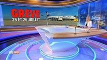 Grève du personnel de cabine de Ryanair les 25 & 26/07 dans 4 pays