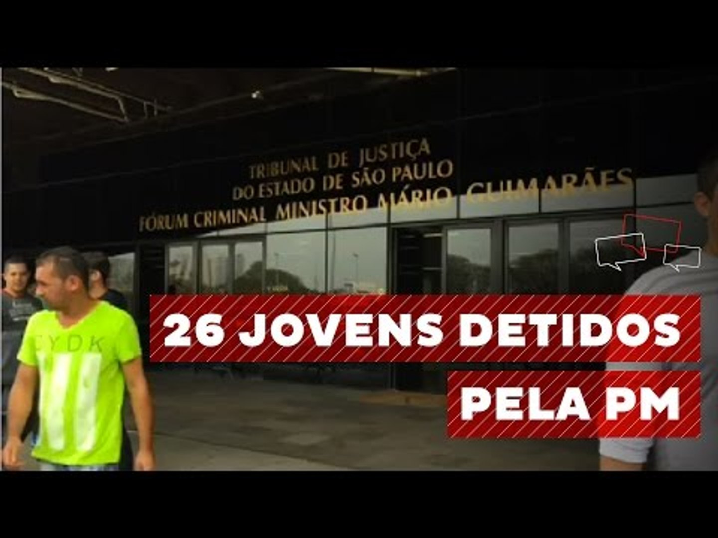 26 jovens foram detidos na última sexta-feira por conta dos atos