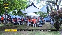 """ Un jour avec... Tatiana, la funambule du Leu Tempo Festival. ""Retrouvez l'extraordinaire funambule Tatiana‑Mosio Bongonga, de la Cie Basinga ! Voici l'intégr"