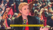 """Le projet de loi contre les violences sexuelles """"vise simplement les sanctions. Ce n'est pas la loi qu'il aurait fallu pour ne pas insulter les femmes qui ont osé parler"""", juge Clémentine Autain, députée La France insoumise #8h30politique"""