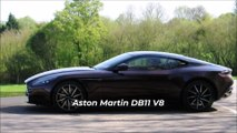 Aston Martin DB11 V8 - start & acceleration