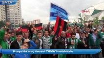 Konya'da maç öncesi TOMA'lı müdahale