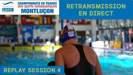 Championnats de France FFESSM 2018 - NAGE AVEC PALMES - SESSION 4