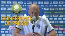 Conférence de presse FBBP 01 - FC Sochaux-Montbéliard (2-1) : Hervé DELLA MAGGIORE (BBP) - Peter ZEIDLER (FCSM) - 2017/2018