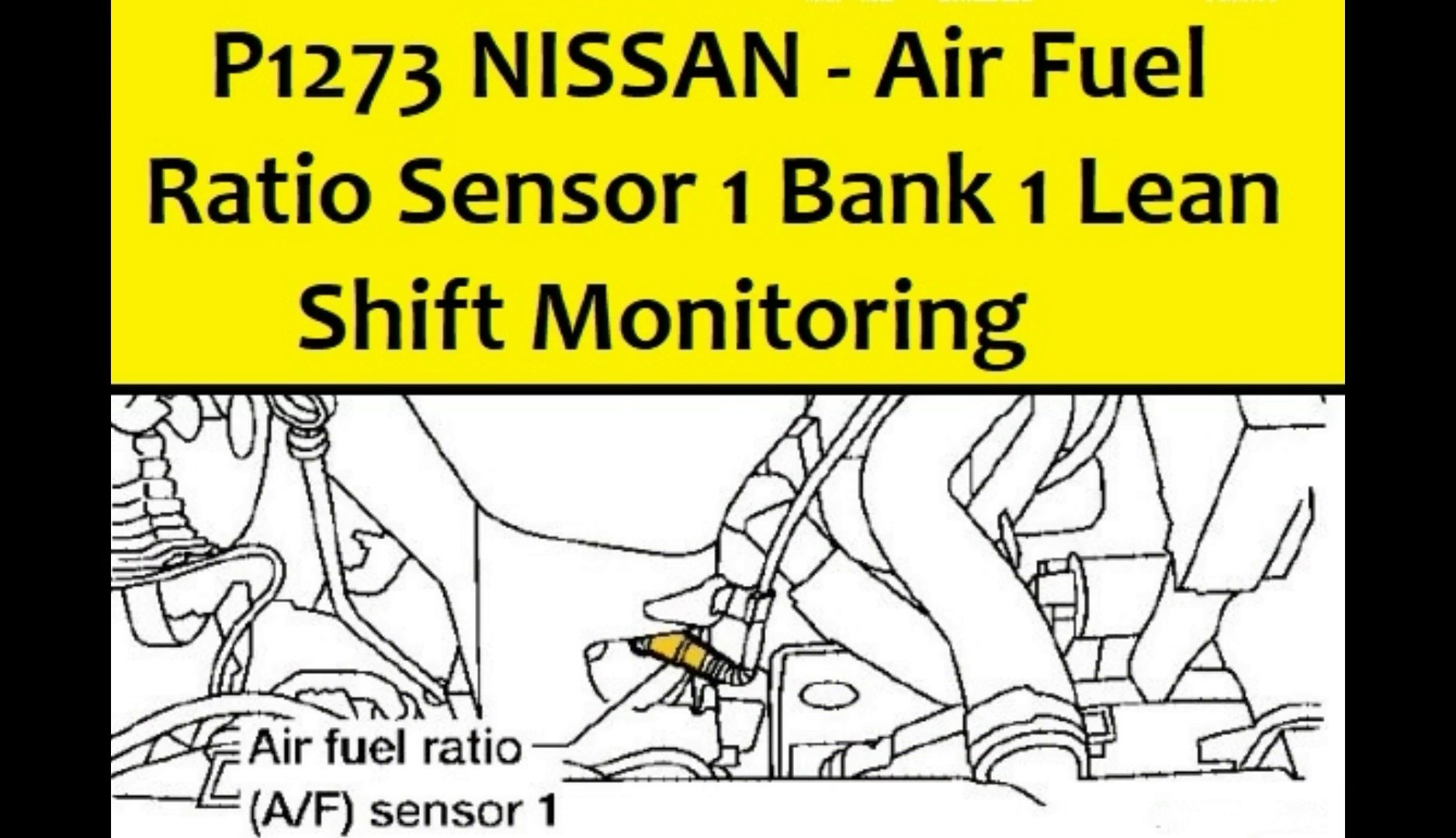 P1273 NISSAN - Air Fuel Ratio Sensor 1 Bank 1 Lean Shift Monitoring