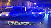 Knife-wielding man kills 1 person, attacks others in Paris