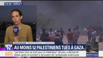 """""""On essaye juste de protester contre les israéliens pour qu'enfin on puisse récupérer notre terre"""" martèlent les palestiniens à la frontière"""