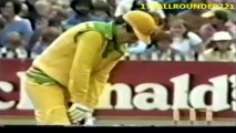 Sarfraz Nawaz Bowling vs Aus 12th Match D-N Benson and Hedges World Series Cup at Sydney Jan 14 1982