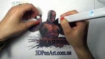 3D PEN LESSON. Дэдпул - 3д ручка.