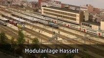 Spur H0 Anlage vom Hauptbahnhof Hasselt von Ivo Schraepen - Lahnsteiner Modellbahntage - Ein Film von Pennula über digitale Modelleisenbahnen sowie Modellbahnen und Modellbau der Eisenbahn