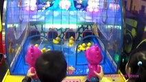 HUGE Chuck E Cheeses Family Fun Indoor Games for Kids and Children Play Area Lorraine Toys Videos