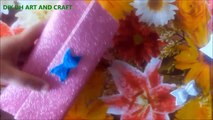 DIY  BOW-FOAM SHEET CRAFT-VERY EASY BOW MAKING-2 MIN BOW MAKING-EASY NO SEW BOW