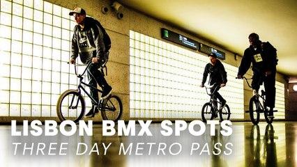 3 BMX Bikes, 3 Riders, 3 Day Metro Pass in Lisbon.
