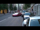 Red Lamborghini Murcielago LP670-4SV Nearly Crashes in London