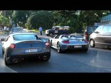 TWO Ferrari 599 GTO - REVS against Carrera GT, Combo with 458 Italia, R8 Spyder.
