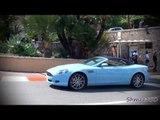 Baby Blue Aston Martin DB9 Volante - Combo with 458 Italia in Monaco