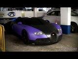 MATTE PURPLE Bugatti Veyron in London - Al-Khalifa
