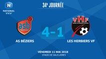 J34 - AS Béziers - Les Herbiers VF (4-1), le résumé
