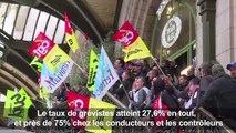 Grève SNCF: les syndicats gagnent le pari de la remobilisation
