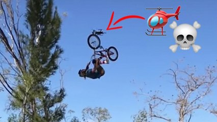DRONE ALMOST KILLS UPSIDE DOWN BMXER