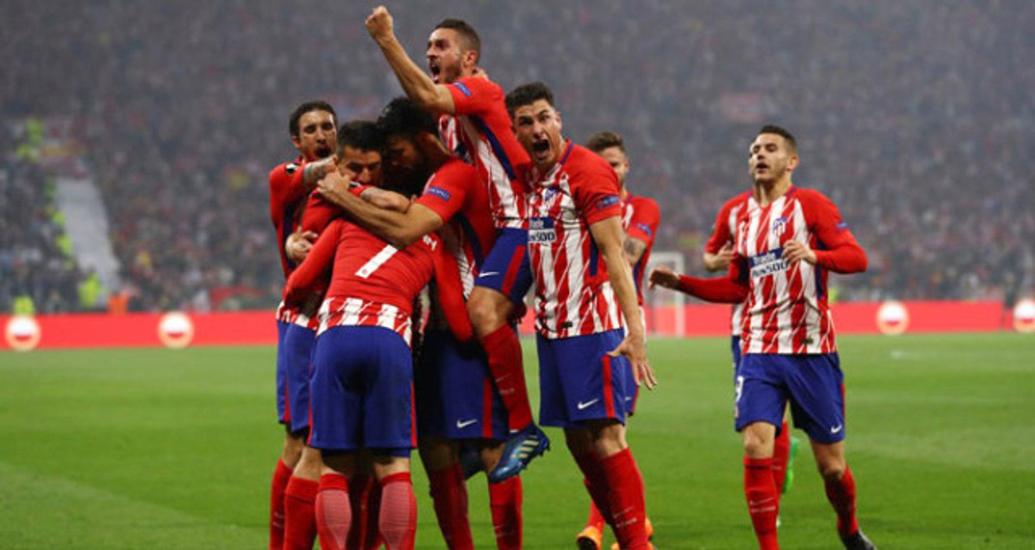 Finalde Marsilya'yı 3-0 Yenen Atletico Madrid, UEFA Avrupa Ligi Şampiyonu Oldu