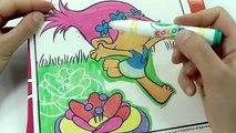 ROTULADORES MÁGICOS DE LOS TROLLS CON DIBUJOS SORPRESA. color wonder Trolls de Crayola/ DIVER+