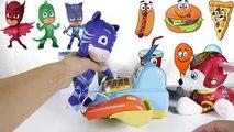 PJ Masks Cooking McDonalds Hamburger Part 2 with Paw Patrol Marshall - McDonalds Happy Meal Toys