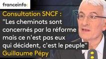 """Consultation SNCF : """"Les cheminots sont concernés par la réforme mais ce n'est pas eux qui décident, c'est le peuple par l'intermédiaire du parlement. Ce vote est illégitime, il n'y a pas de liste d'émargements qui puisse être vérifiée"""" - Guillaume Pépy"""