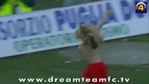 female players take off shirt celebrate the goal-funny football -football videos-