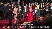 Cannes: Lars von Trier, Matt Dillon de retour sur le tapis rouge