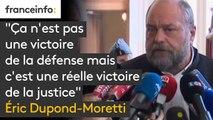 """""""Ça n'est pas une victoire de la défense mais c'est une réelle victoire de la justice (...) La Cour, tout en le condamnant à de l'emprisonnement, permet qu'il y ait un aménagement de cette peine"""",  Eric Dupond-Moretti, avocat de Jérôme Cahuzac"""