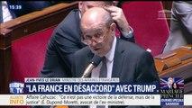 """""""Nous avons avec les Etats-Unis des désaccords"""", estime Jean-Yves Le Drian sur Jérusalem et l'accord iranien"""