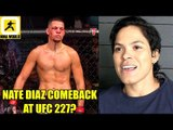 Nate Diaz in talks with the UFC for a comeback fíght on Aug 4 UFC 227,Bisping on UFC 224 Main Event