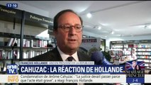 """Condamnation de Cahuzac : """"Si j'ai un regret c'est de ne pas l'avoir écarté plus tôt"""", estime Hollande"""