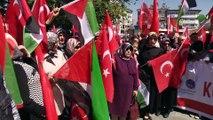 Şehit Filistinliler için gıyabi cenaze namazı kılındı - SİVAS