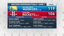 The Jim Rome Show: Warriors defeat the Rockets 119-106 in Game 1