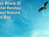 Flash Furniture HERCULES Series Black Slat Back Metal Restaurant Barstool  Natural Wood