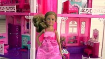 Barbies Dreamhouse Tour - Stacie & Chelsea Give a Tour of Barbies Dream House, Doll House