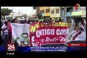 Trujillo: hinchas marchan por las calles en respaldo a Paolo Guerrero