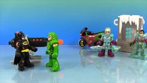 Imaginext Batman Heat Blaster Adventure: with Robin, Mr Freeze, Superman, Flash, and Green Arrow!